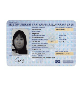 Fake and Real Netherlands ID Card