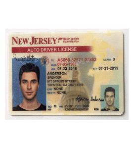New Jersey Driver License